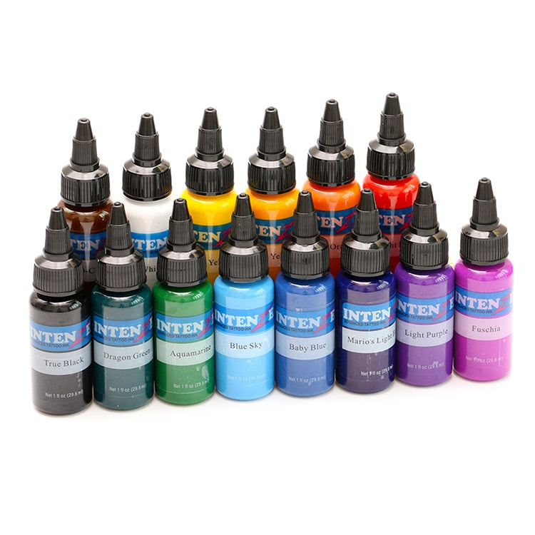 Tattoo Ink 14 colors 30 ml / bottle Tattoo Pigment Ink Set Art Body Kit