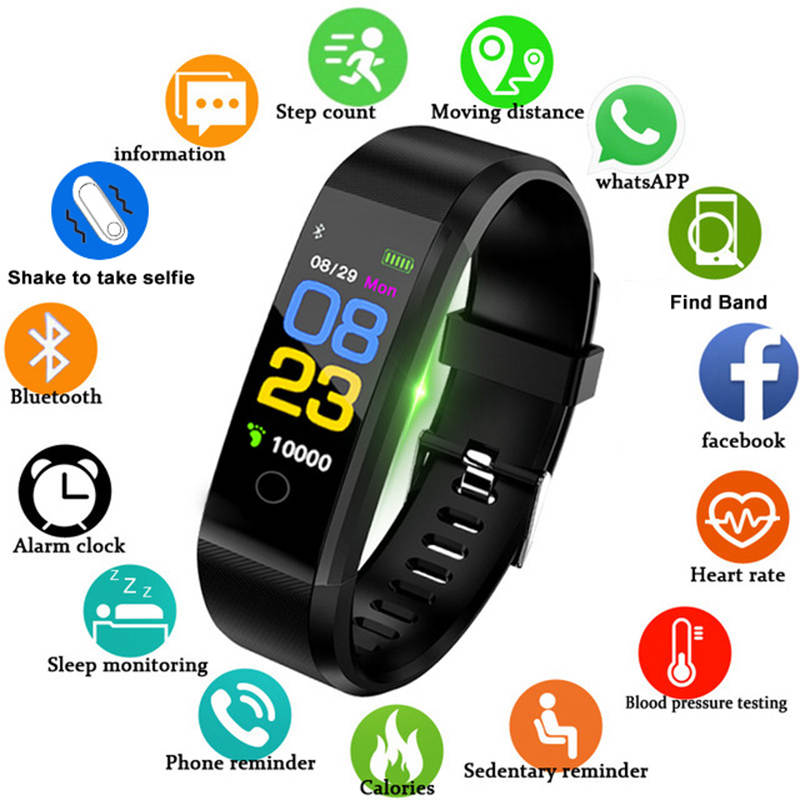 Smart Bracelet Heart Rate Monitor Blood Pressure Monitor Fitness Tracker