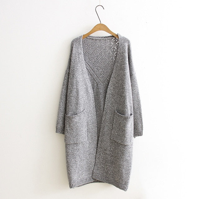 New Design Sweater Oversize Cardigan Outerwear Coat Female Long Autumn Winter