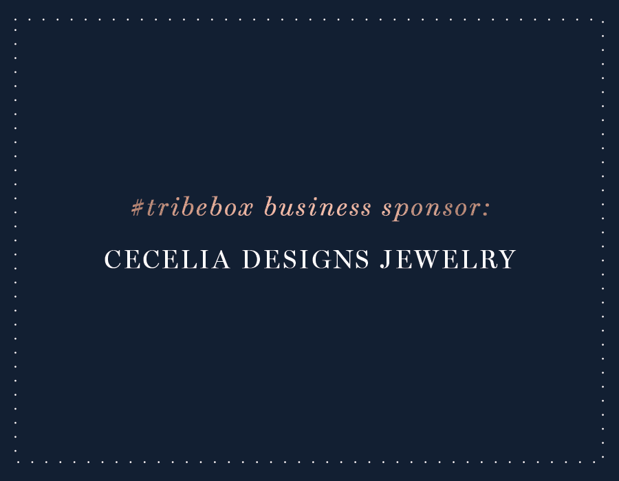 Meet our #Tribebox Sponsor: Cecelia Designs Jewelry