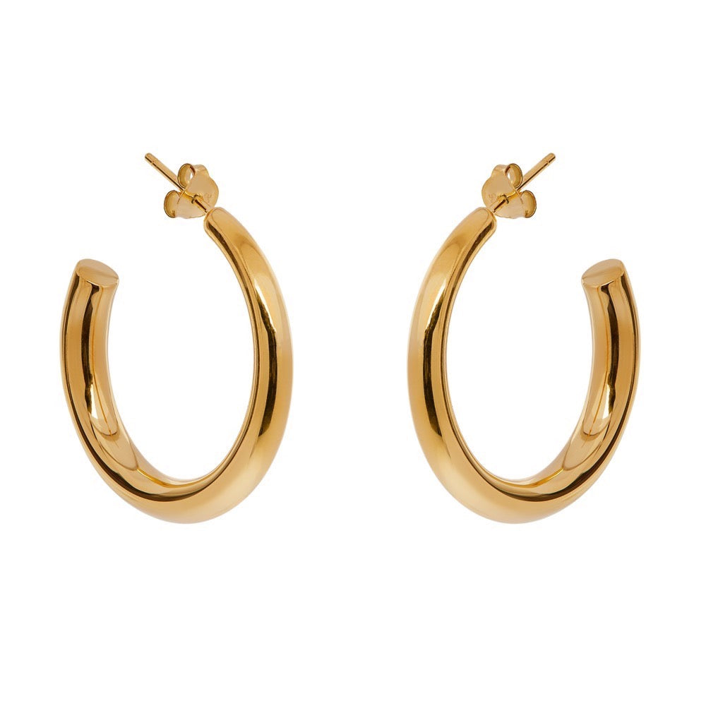 Lisa Hoops - Yellow Gold - Louise Varberg Jewellery