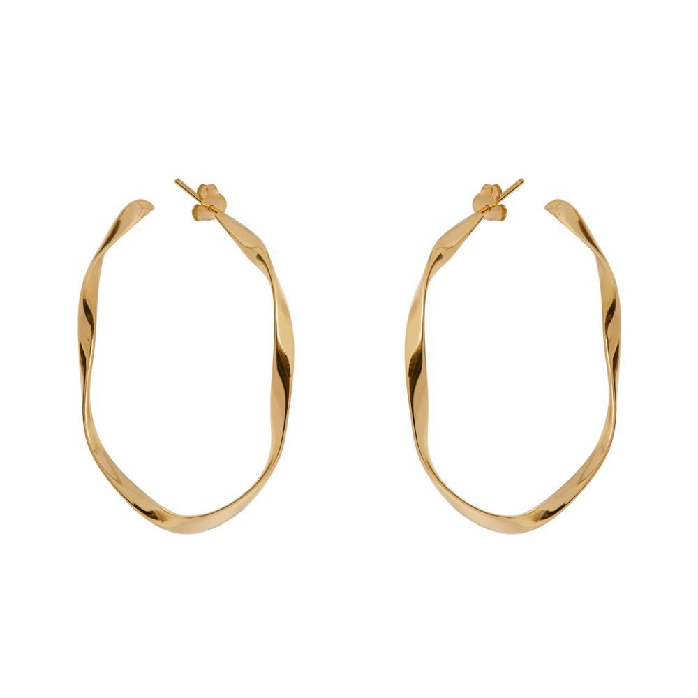 Sonja Hoops - Yellow Gold - Louise Varberg Jewellery