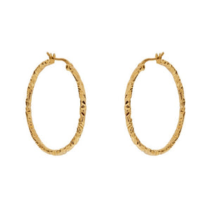 Ofelia Hoops - Yellow Gold - Louise Varberg Jewellery