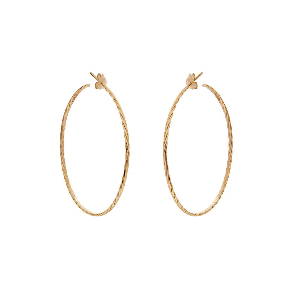 Ulla Hoops - Yellow Gold - Louise Varberg Jewellery