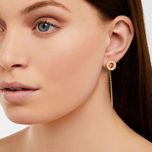 Hula - Earrings - White Sapphire - Rose Gold - Louise Varberg Jewellery