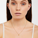 Stella - Necklace - Diamond - Yellow Gold - Louise Varberg Jewellery