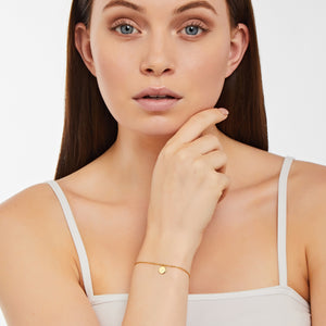 Stella - Bracelet - Diamond - Pearl - Yellow Gold - Louise Varberg Jewellery