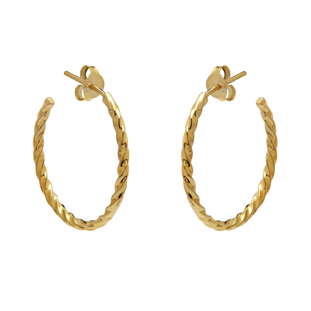 Twisted Hoops - Yellow Gold - Louise Varberg Jewellery