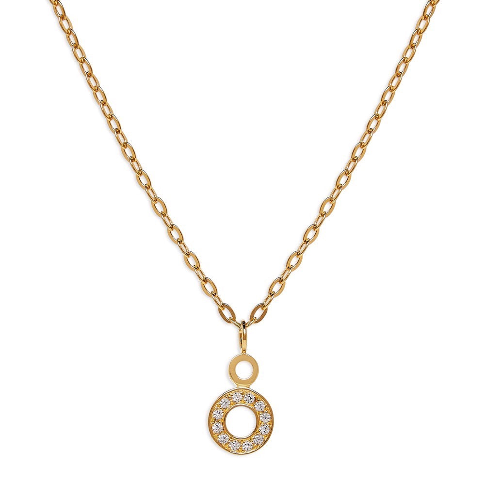 Hula- Necklace - Sapphire - Gold - Louise Varberg Jewellery