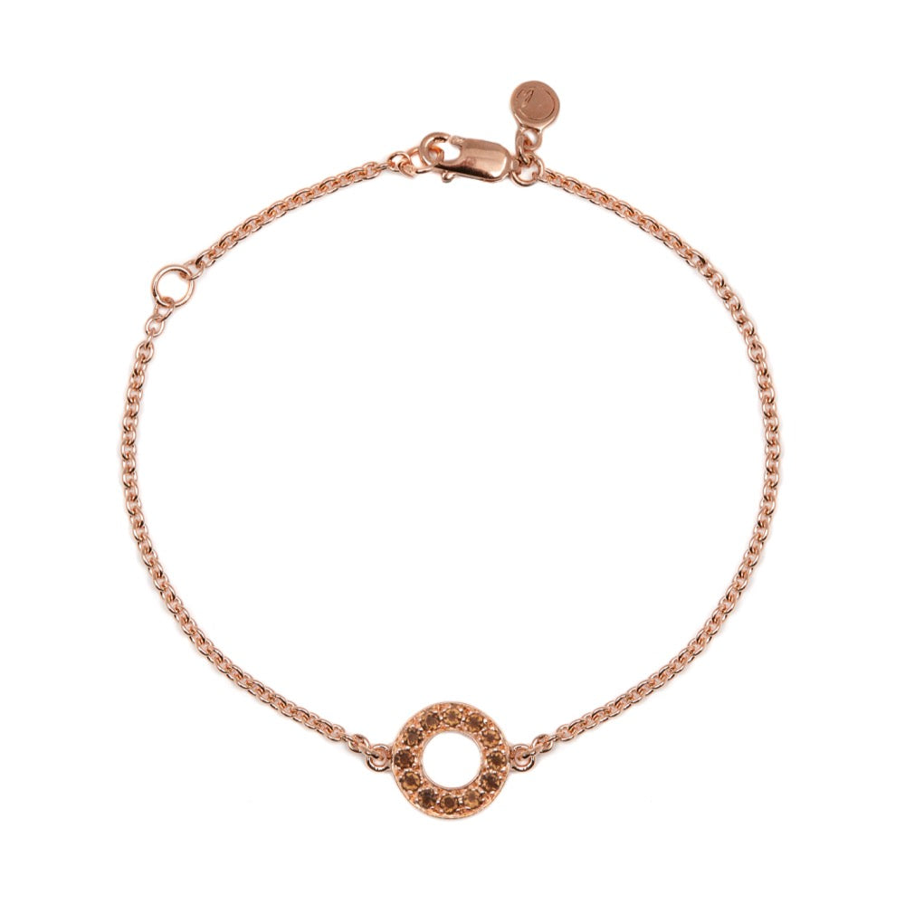 Hula - Bracelet - Rose Gold -Smoky Quartz - Louise Varberg Jewellery