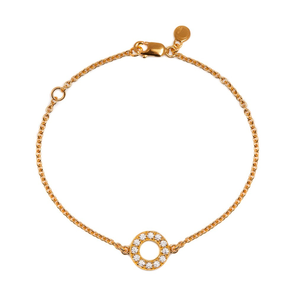Hula - Bracelet - Diamond - Yellow Gold - Louise Varberg Jewellery
