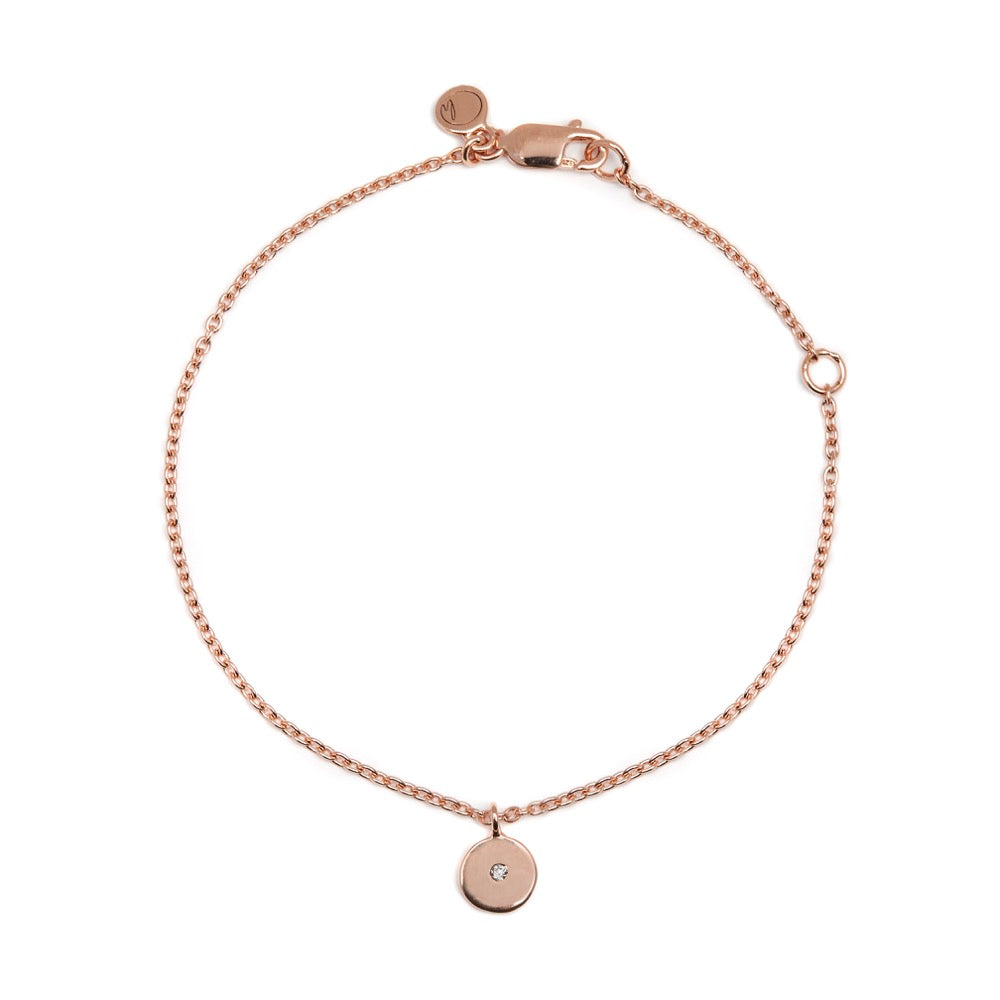 Stella - Bracelet - Diamond - Rose Gold - Louise Varberg Jewellery