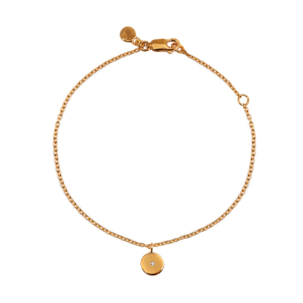 Stella - Bracelet - Diamond - Yellow Gold - Louise Varberg Jewellery