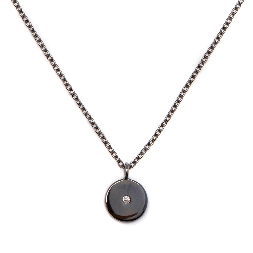 Stella - Necklace - Diamond - Black Rhodium - Louise Varberg Jewellery