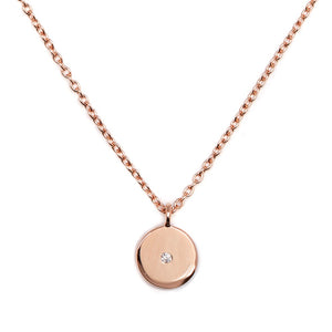 Stella - Necklace - Diamond - Rose Gold - Louise Varberg Jewellery