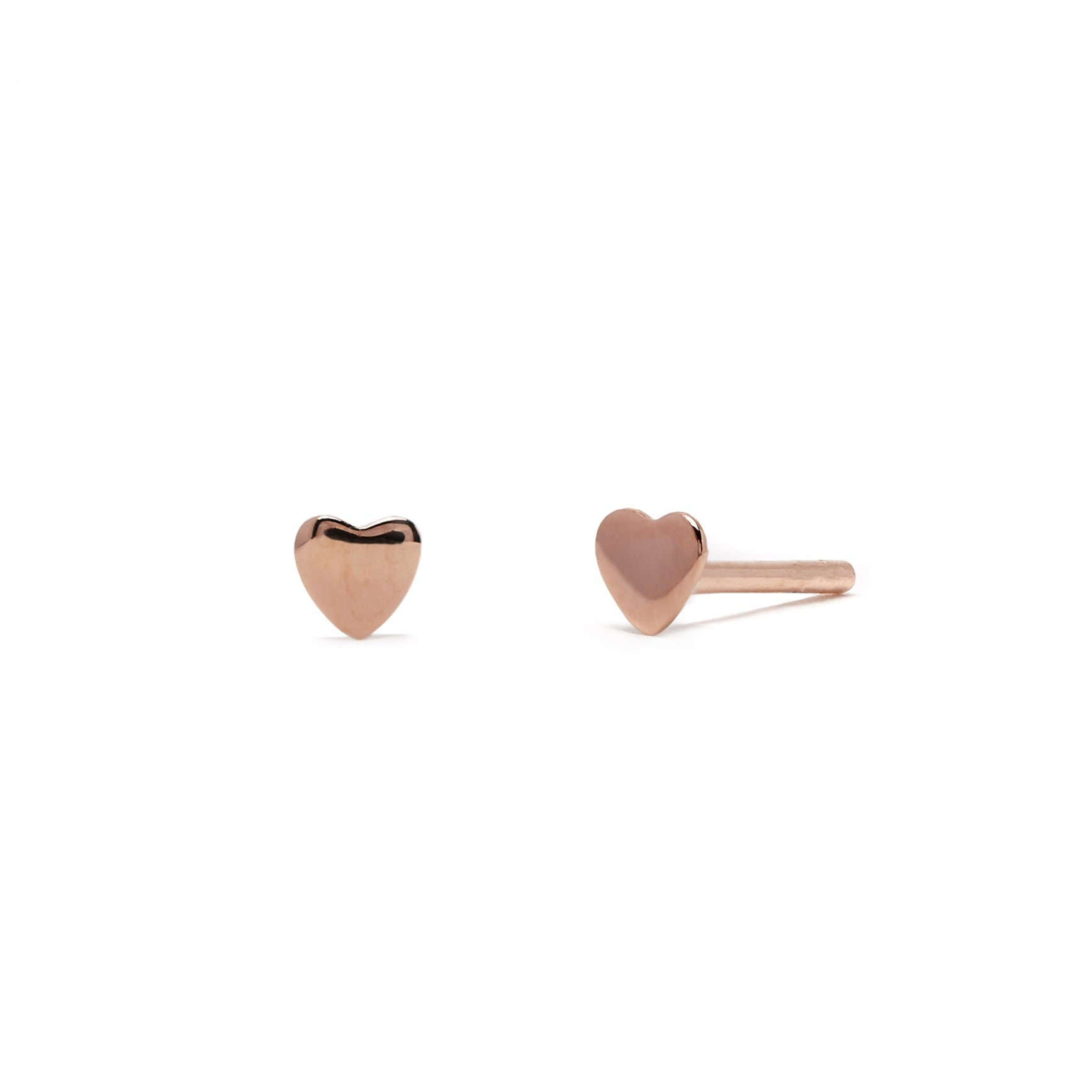 Love Heart - Earring - Rose Gold - Stud - Single - Louise Varberg Jewellery