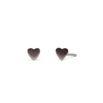 Love Heart - Earring - Black Rhodium Satin - Stud - Single - Louise Varberg Jewellery