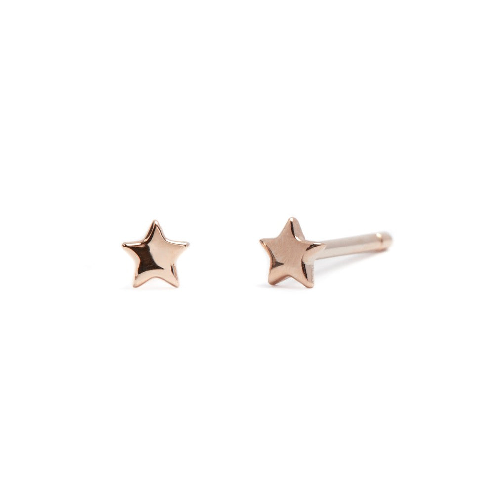 Love Star - Earrings - Rose Gold - Stud - Pair - Louise Varberg Jewellery
