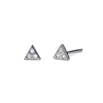 Izzy - Earrings - Black Rhodium - Diamond - Stud - Pair - Louise Varberg Jewellery