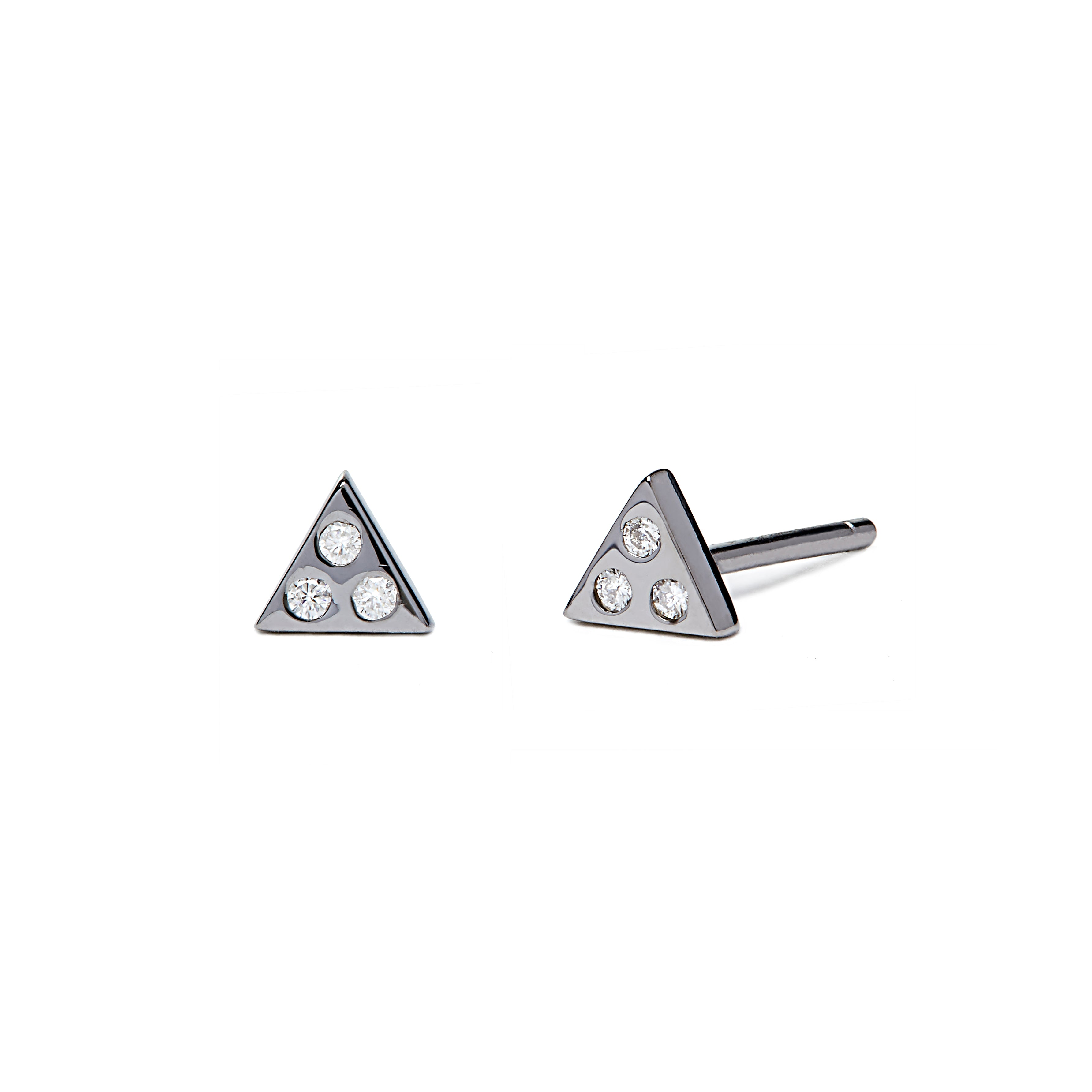 Izzy - Earring - Black Rhodium - Diamond - Stud - Single - Louise Varberg Jewellery