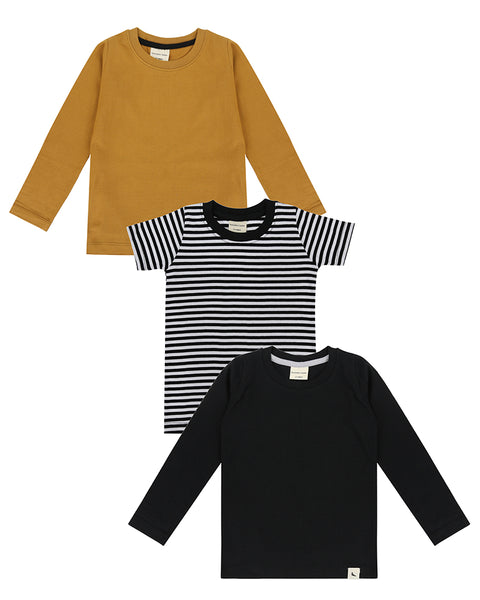 3Pk Layering Tops ( Stripe, Honeycomb, Black)