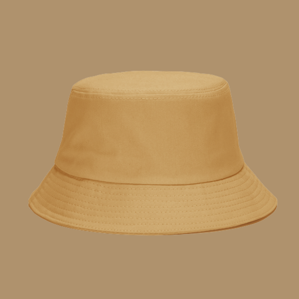 BabyMocs bucket hat, in beige. Made of 100% gots certified organic cotton.