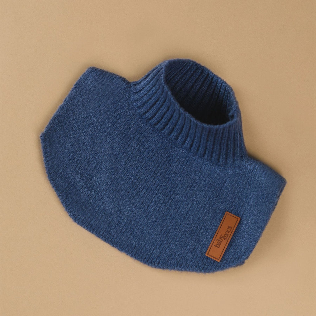 Blue neck warmer by BabyMocs. Hand made using 100% GOTS certified organic cotton.