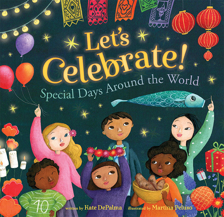 Bare Foot Book Let's Celebrate. Features 13 special days from cultures around the world.