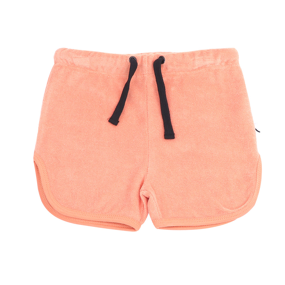 Carlijnq soft Terry towel shorts are made ethically in Turkey with 80% organic cotton / 20% polyester. Features an elasticated drawstring waist.
