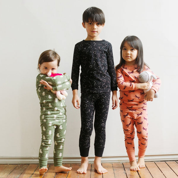 Black Galaxy Organic Kids Pajamas