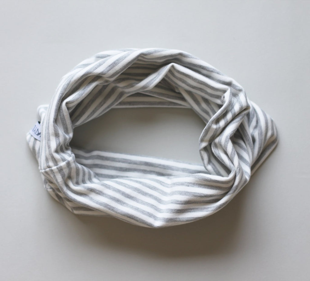 Infinity kids scarf made of double lined Bamboo cotton.