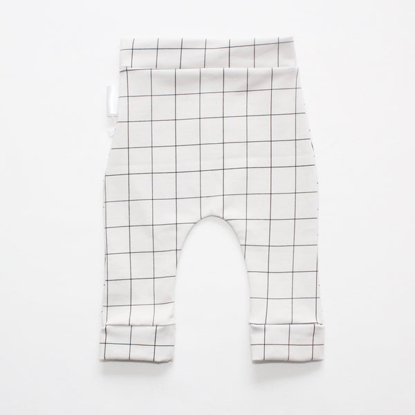 Grid on Coconut Milk Leggings