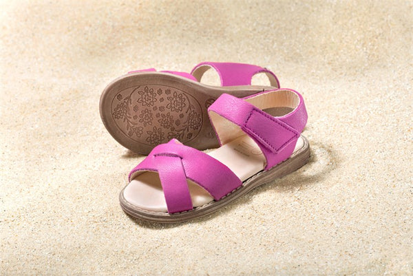 Girls Velcro Sandals in Pink