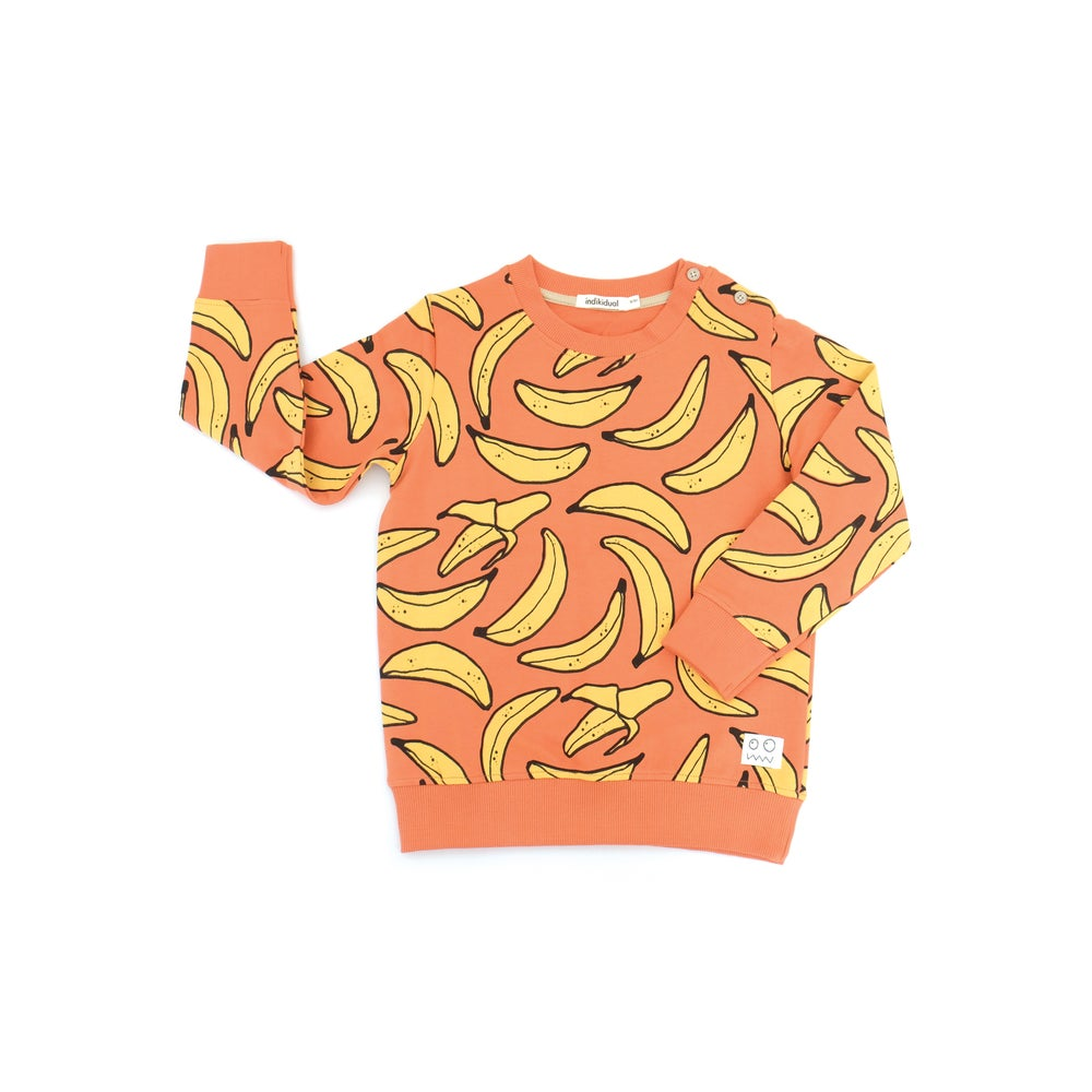 Indikidual banana sweatshirt. Ethically made in India with 100% organic cotton.