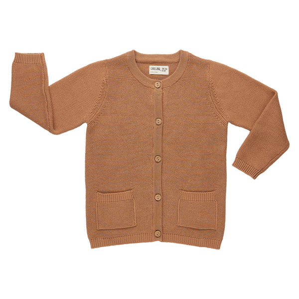 Knit Caramel Cardigan + Pockets