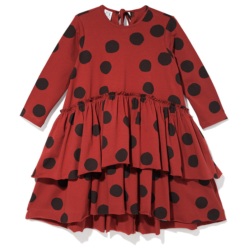 Kukukid dancing dress. Made ethically in Poland. Composed of 95% cotton, 5% spandex certified OEKO TEX STANDARD.