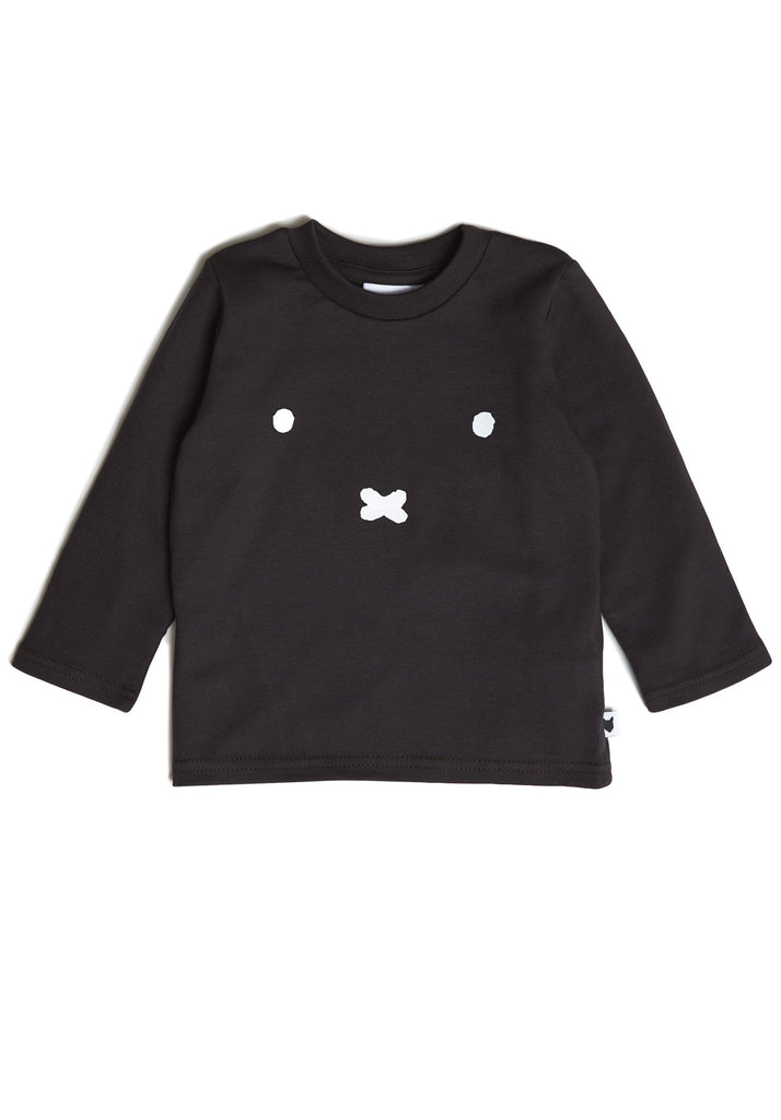 Black long-sleeve top with crew neck and Miffy face at the front.