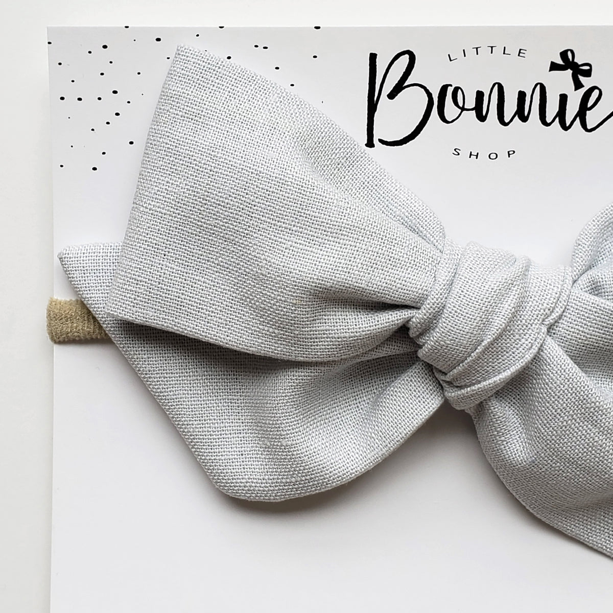 Grey Oversized Pinwheel Headband