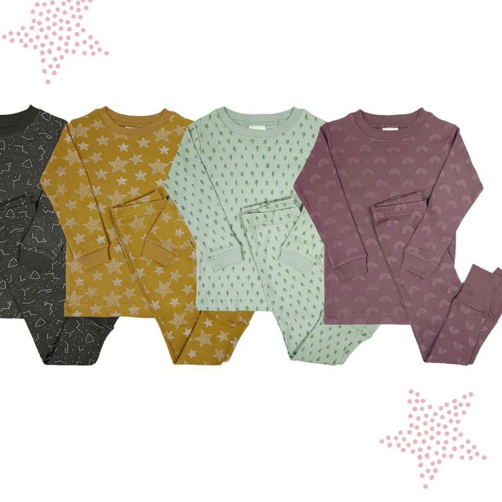 Parade Organics two-piece pyjamas. Made ethically in India with GOTS certified organic cotton.