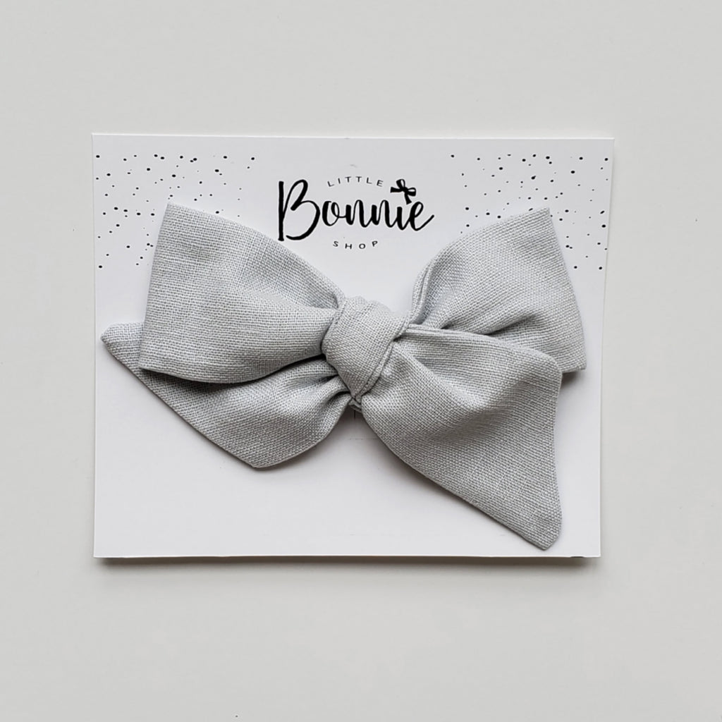 Grey  Pinwheel Bow