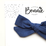 Navy Blue Pixie Bow