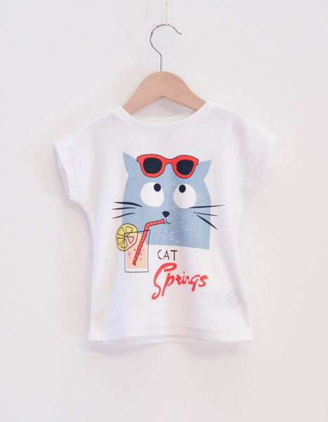Cat Spring Girl T-shirt