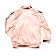 Kiss Goodbye - Pink Satin Bomber Jacket