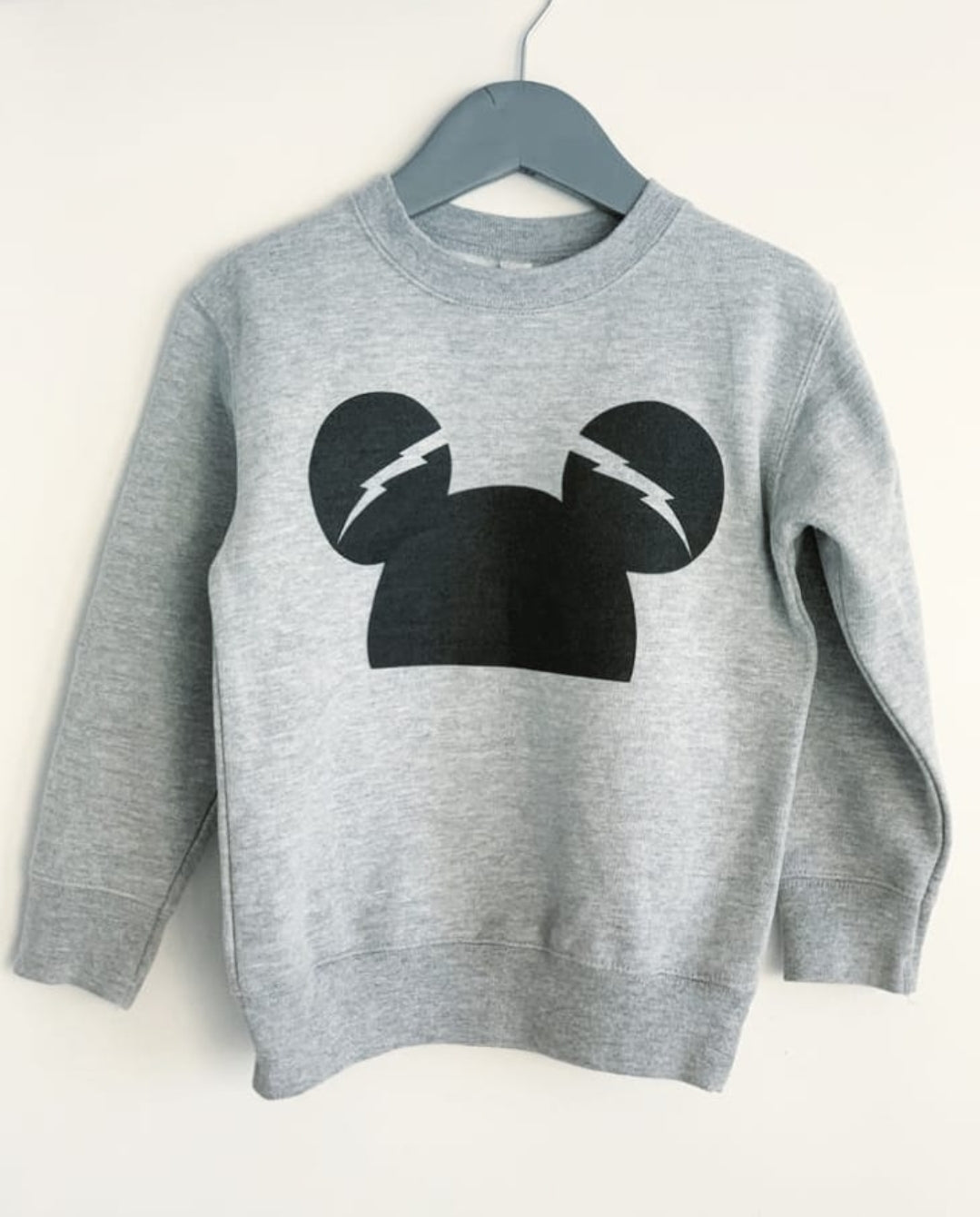 Micke Mouse grey kids sweatshirt ethically made with 60% cotton and 40% polyester