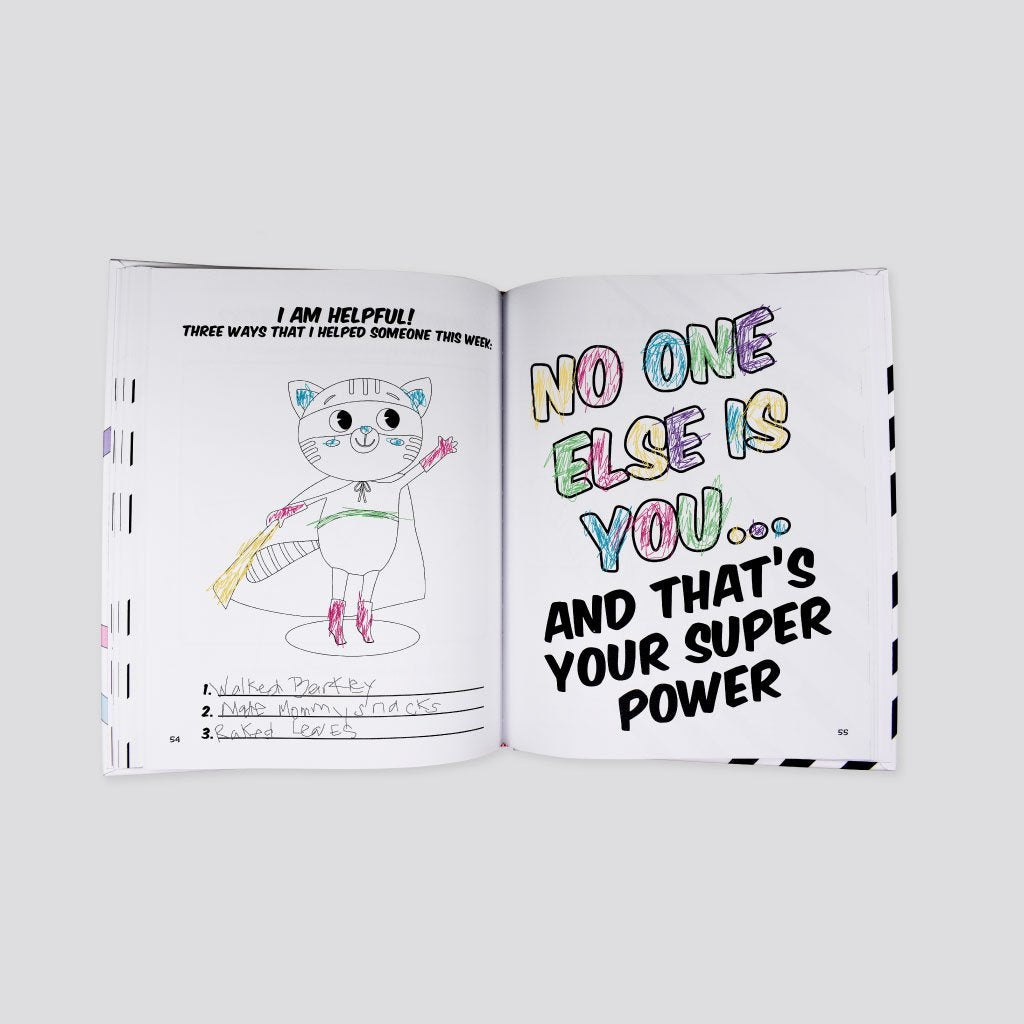 Spark Journals colouring book. The Heart of a Hero journal will help your kids develop resilience, growth mindset and gratitude.