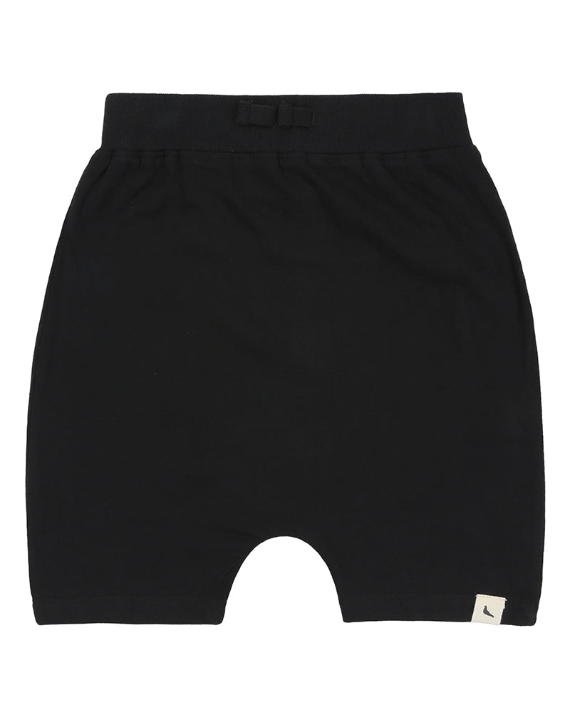 Drop Crotch Shorts - Black