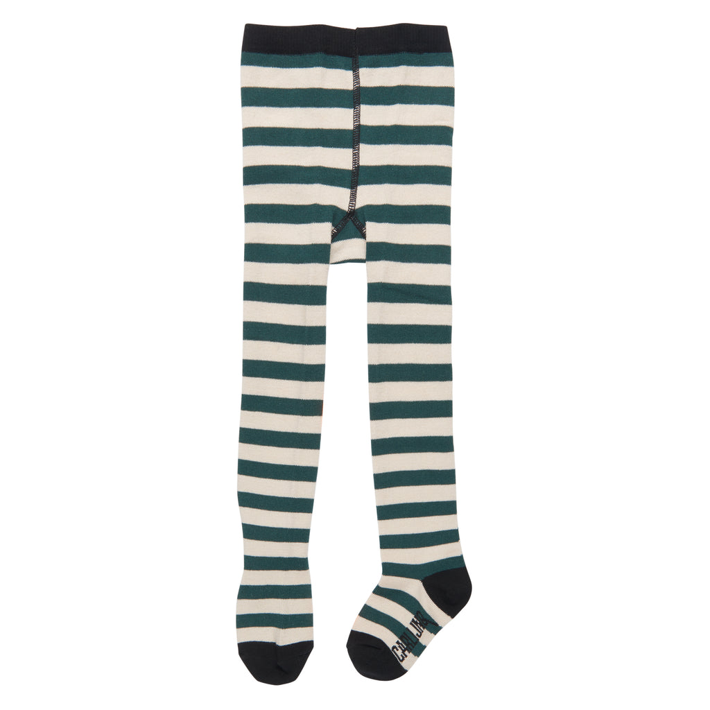 Tights Green Stripes