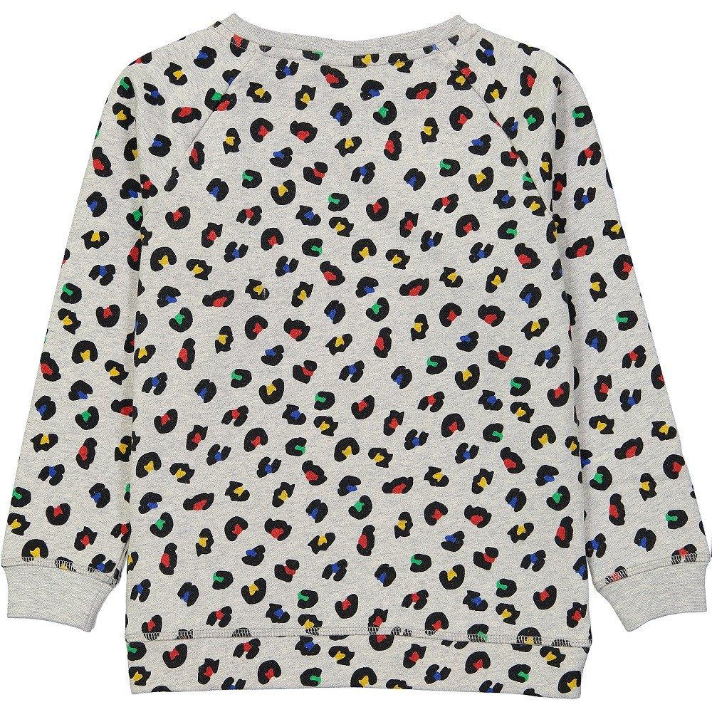 Tootsa Macginty animal print kids sweatshirt made of GOTS certified organic cotton. Ethically made in India.