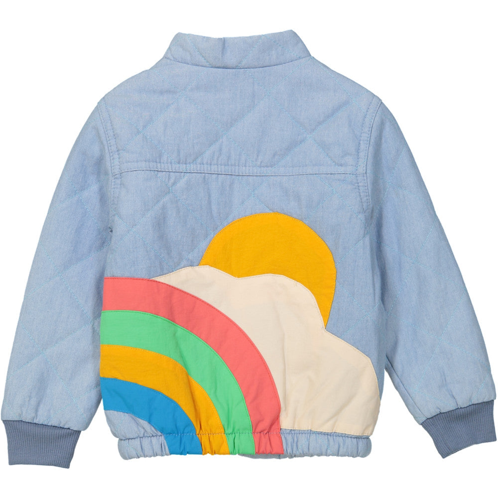 Tootsa Macginty quilted bomber jacket ethically made of 100% organic cotton in India. Lightly padded. Gender neutral kids clothes.