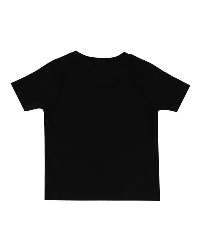 Turtledove London black t-shirt. Made of GOTS certified cotton. Back side.